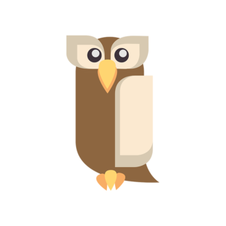 Geometric Birds Owl Clip Art - SVG & PNG vector