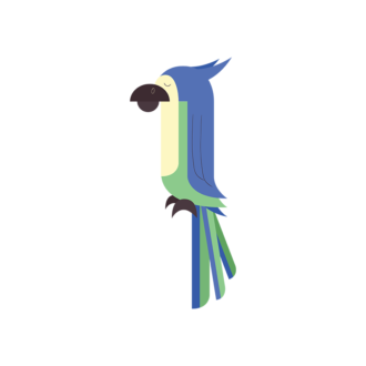 Geometric Birds Parrot Clip Art - SVG & PNG vector