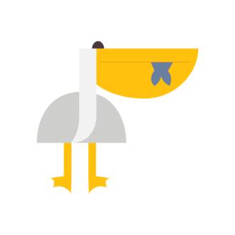 Geometric Birds Pelican Clip Art - SVG & PNG vector
