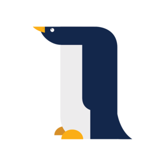 Geometric Birds Pinguin Clip Art - SVG & PNG vector