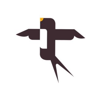 Geometric Birds Sparrow Clip Art - SVG & PNG vector