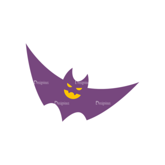 Halloween Bat 04 Preview Clip Art - SVG & PNG vector