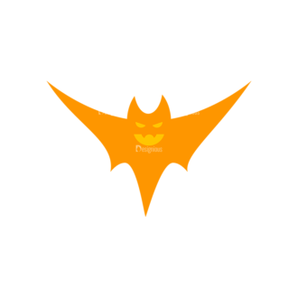 Halloween Bat 06 Preview Clip Art - SVG & PNG vector