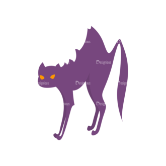 Halloween Cat Preview Clip Art - SVG & PNG vector