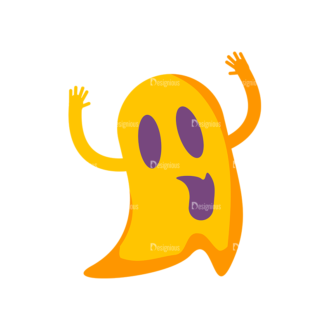 Halloween Ghost Preview Clip Art - SVG & PNG vector