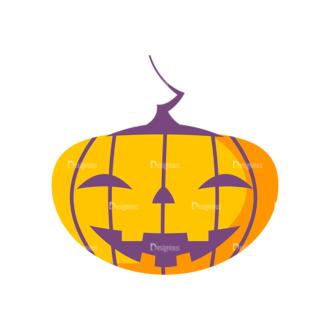 Halloween Pumpkin Preview Clip Art - SVG & PNG vector