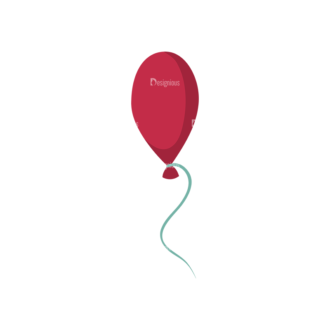 Happy Birthday Elements Balloon Preview Clip Art - SVG & PNG vector