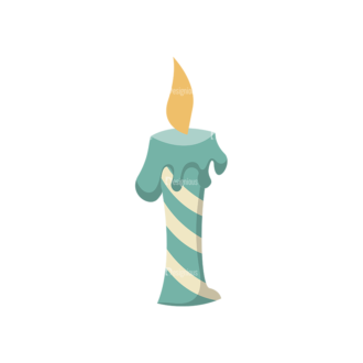 Happy Birthday Elements Candle 05 Preview Clip Art - SVG & PNG vector