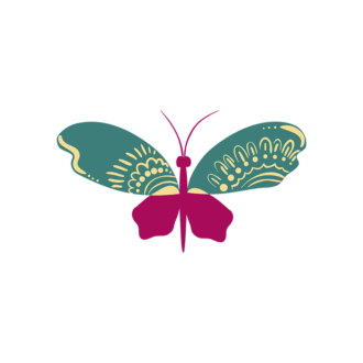 Insects Butterfly 02 Clip Art - SVG & PNG vector