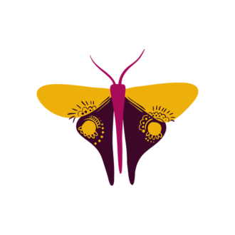 Insects Butterfly 03 Clip Art - SVG & PNG vector