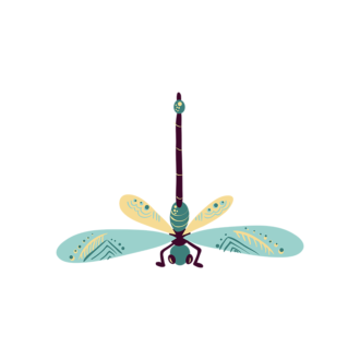Insects Dragon Fly Clip Art - SVG & PNG vector