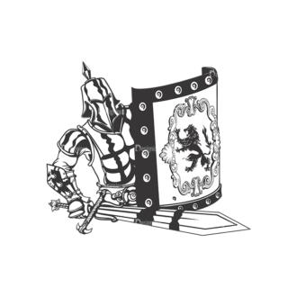 Knigth Vector 1 12 Clip Art - SVG & PNG vector