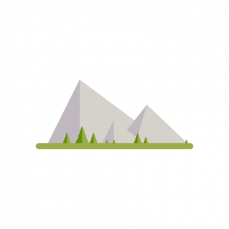 Landscape Builder Mountain Scenery 07 Clip Art - SVG & PNG vector