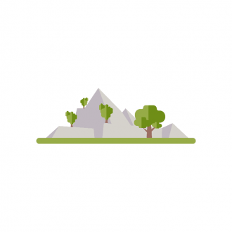 Landscape Builder Mountain Scenery 11 Clip Art - SVG & PNG vector