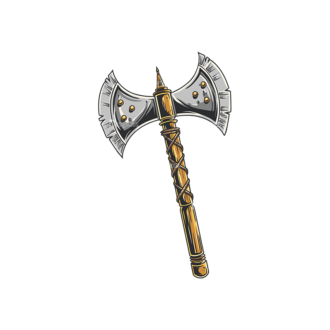 Medieval Weapons Vector 1 2 Clip Art - SVG & PNG vector