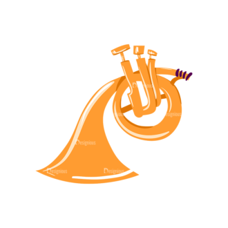 Musical Instruments French Horn Clip Art - SVG & PNG vector