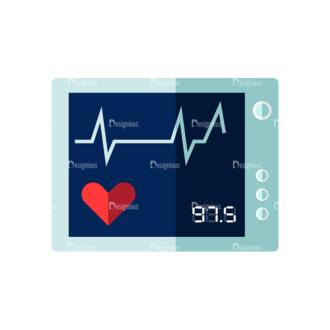 Nurse Hart Rate Monitor Preview Clip Art - SVG & PNG vector