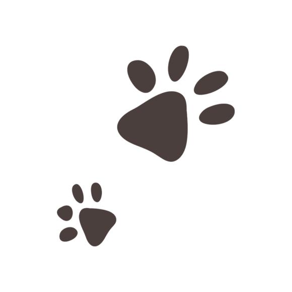 Puppies Foot Print 08 Clip Art - SVG & PNG vector