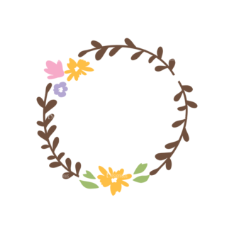 Swirly Frame Decorations 05 Clip Art - SVG & PNG vector