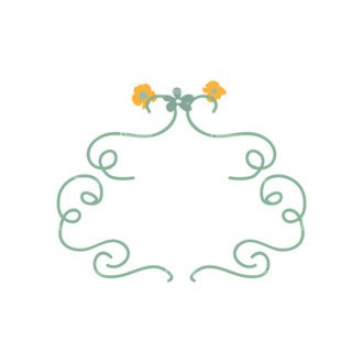 Swirly Frame Decorations 07 Clip Art - SVG & PNG vector