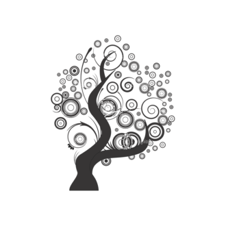 Abstract Trees Vector 1 14 Clip Art - SVG & PNG vector