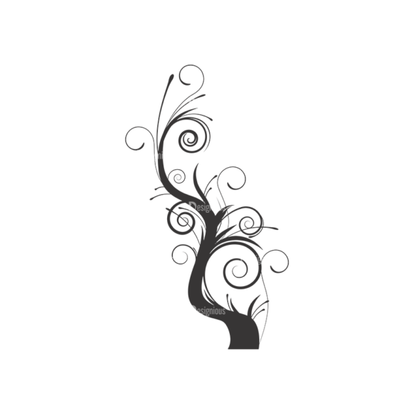 Abstract Trees Vector 1 6 1