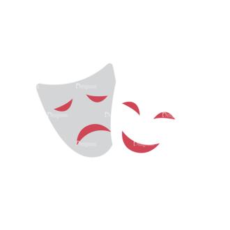 Actor Vector Mask Clip Art - SVG & PNG vector