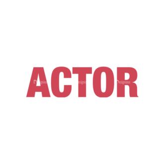 Actor Vector Professions Clip Art - SVG & PNG vector