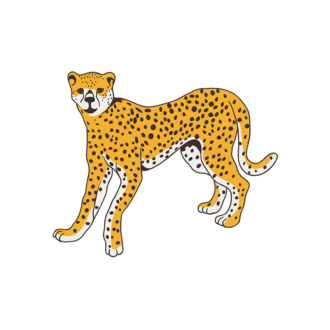 Africa Animals Vector 1 Vector Cheetah Clip Art - SVG & PNG vector