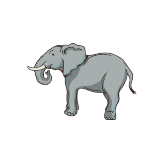 Africa Animals Vector 1 Vector Elephant Clip Art - SVG & PNG vector