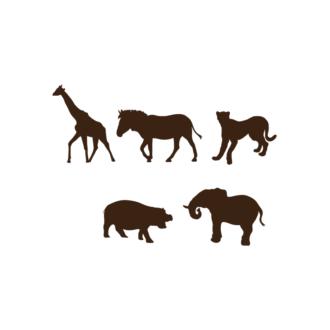 Africa Animals Vector 1 Vector Wild Animals Clip Art - SVG & PNG vector
