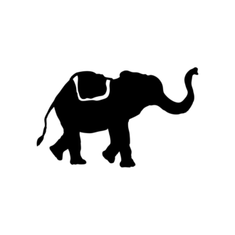 Animal Silhouettes 22 Vector Large Elephant 10 Clip Art - SVG & PNG vector