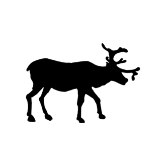 Animal Silhouettes 22 Vector Large Reindeer 04 Clip Art - SVG & PNG vector