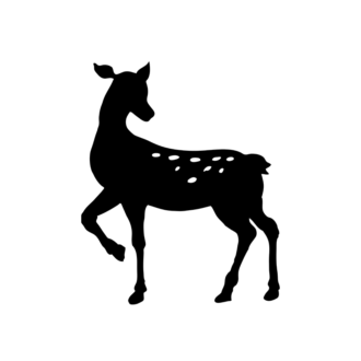 Animal Silhouettes 22 Vector Large Reindeer 05 Clip Art - SVG & PNG vector