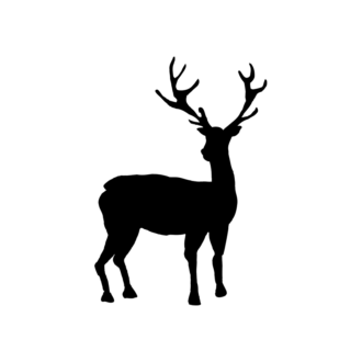 Animal Silhouettes 22 Vector Large Reindeer 08 Clip Art - SVG & PNG vector