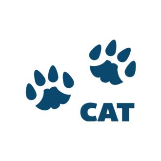 Animals Footprints Vector 1 Vectorcat Clip Art - SVG & PNG vector