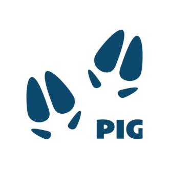 Animals Footprints Vector 1 Vectorchicken Clip Art - SVG & PNG vector