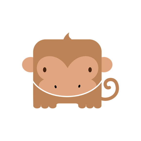 Animals Vector 4 Vector Monkey animals vector set 4 vector monkey