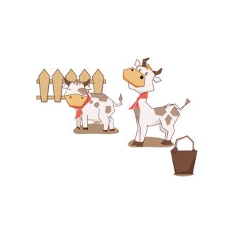 Animals Vector 7 Vector Cow Clip Art - SVG & PNG vector