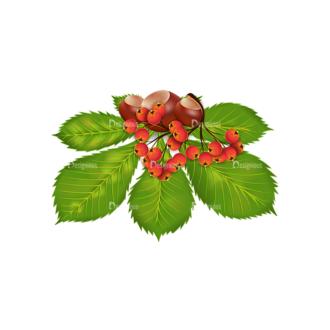 Autumn Elements Vector Leaves 08 Clip Art - SVG & PNG vector