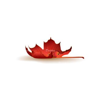 Autumn Elements Vector Leaves 25 Clip Art - SVG & PNG vector