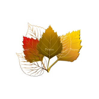 Autumn Elements Vector Leaves15 Clip Art - SVG & PNG vector