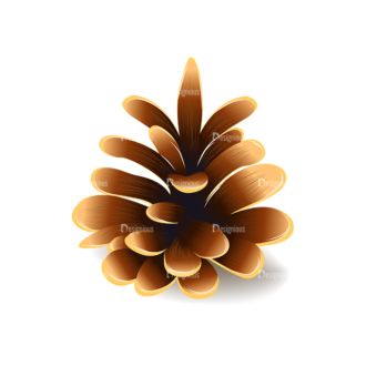 Autumn Elements Vector Pinecone 20 Clip Art - SVG & PNG vector