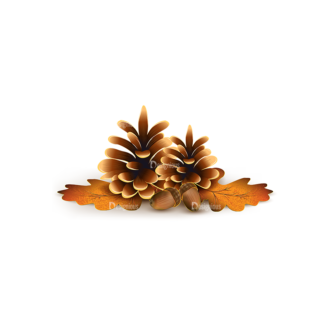 Autumn Elements Vector Pinecone 28 Clip Art - SVG & PNG vector