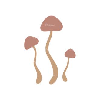 Autumn Scrapbook Elements Vector Set 1 Vector Mushroom Clip Art - SVG & PNG vector