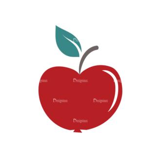 Back To School Vector Flat Vector Apple Clip Art - SVG & PNG vector