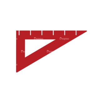Back To School Vector Flat Vector Ruler Clip Art - SVG & PNG vector