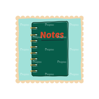 Back To School Vector Set 11 Vector Notebook Clip Art - SVG & PNG vector