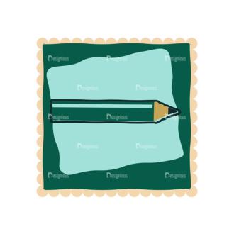 Back To School Vector Set 11 Vector Pencil 04 Clip Art - SVG & PNG vector