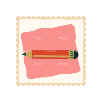 Back To School Vector Set 11 Vector Pencil 07 Clip Art - SVG & PNG vector